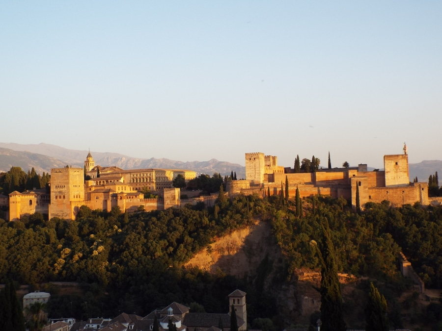 Granada: Alhambra au coucher du soleil