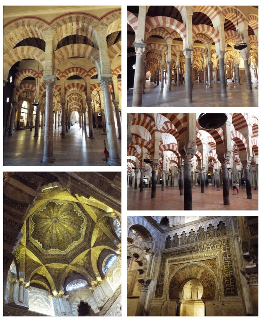 Cordoba columns and mihrab mosque