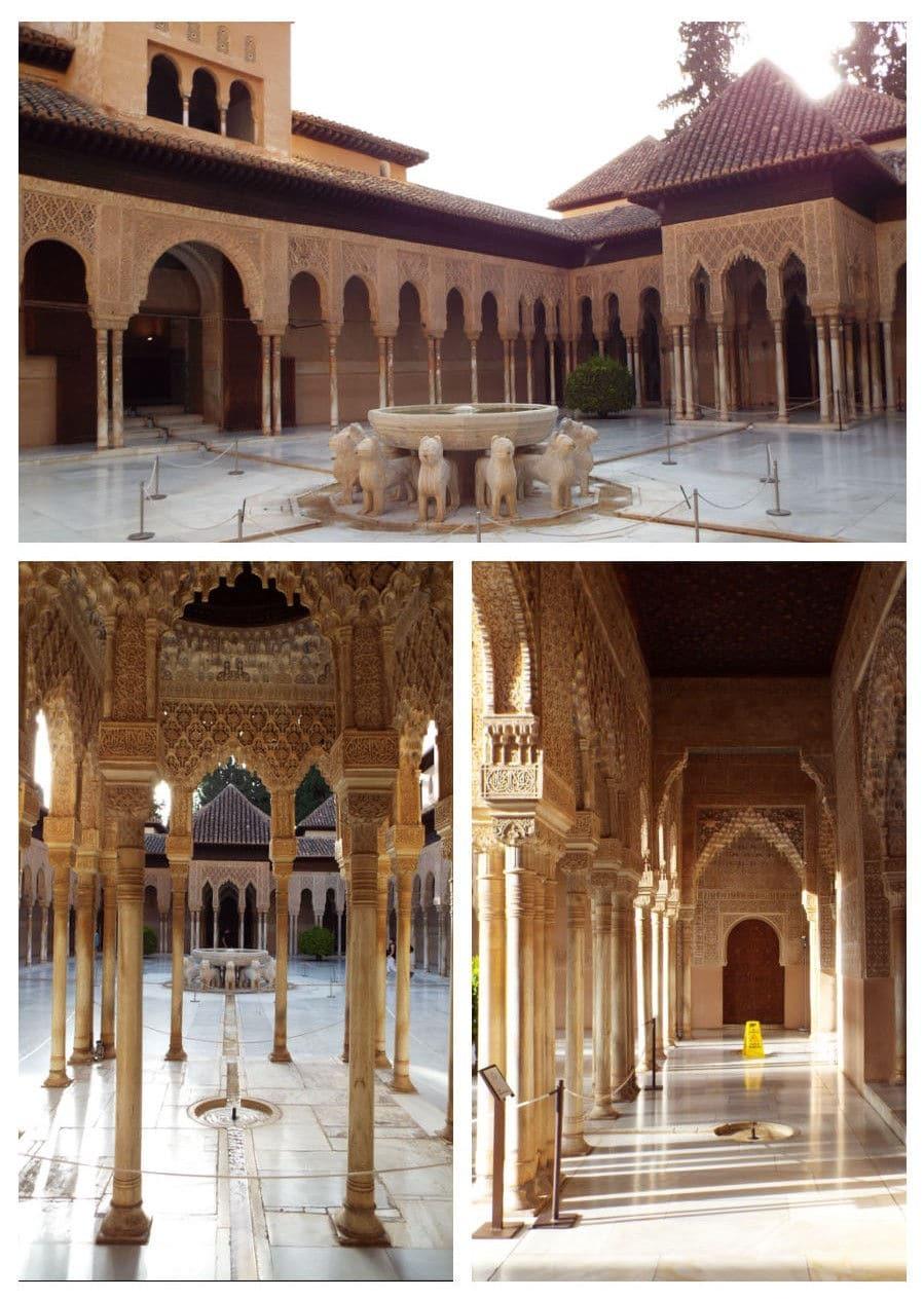 Granada: Alhambra patio de los leones