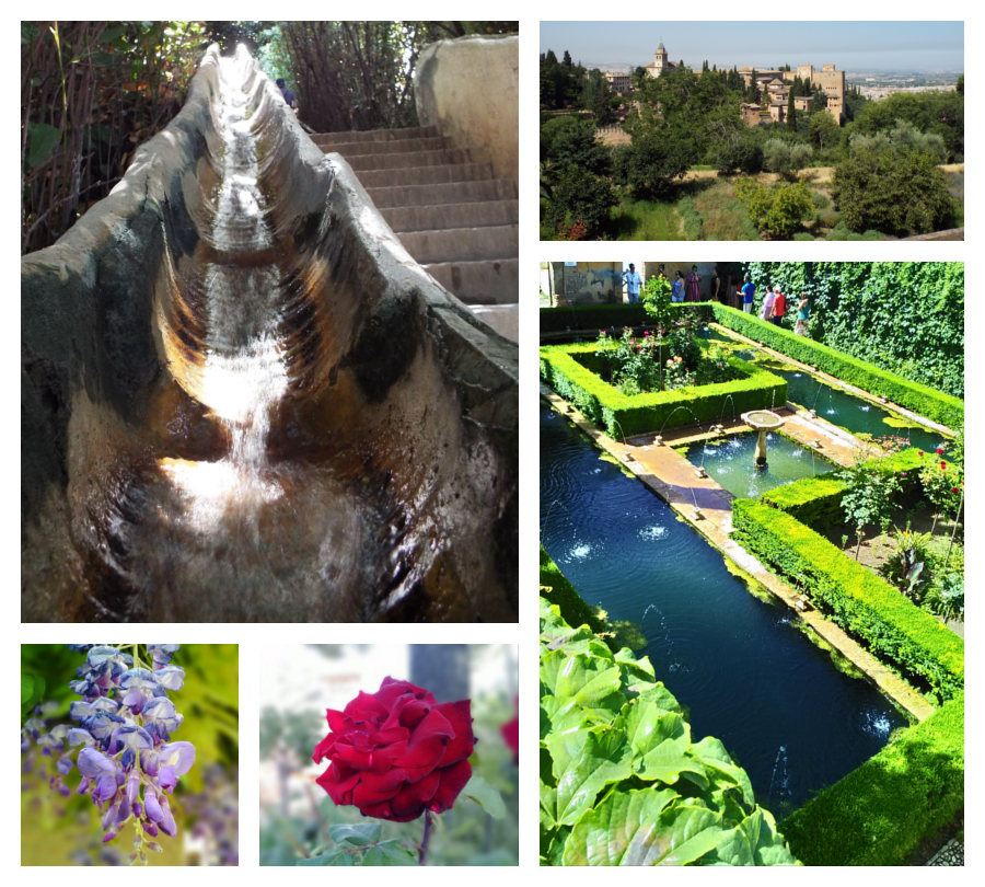 Granada: jardins Alhambra