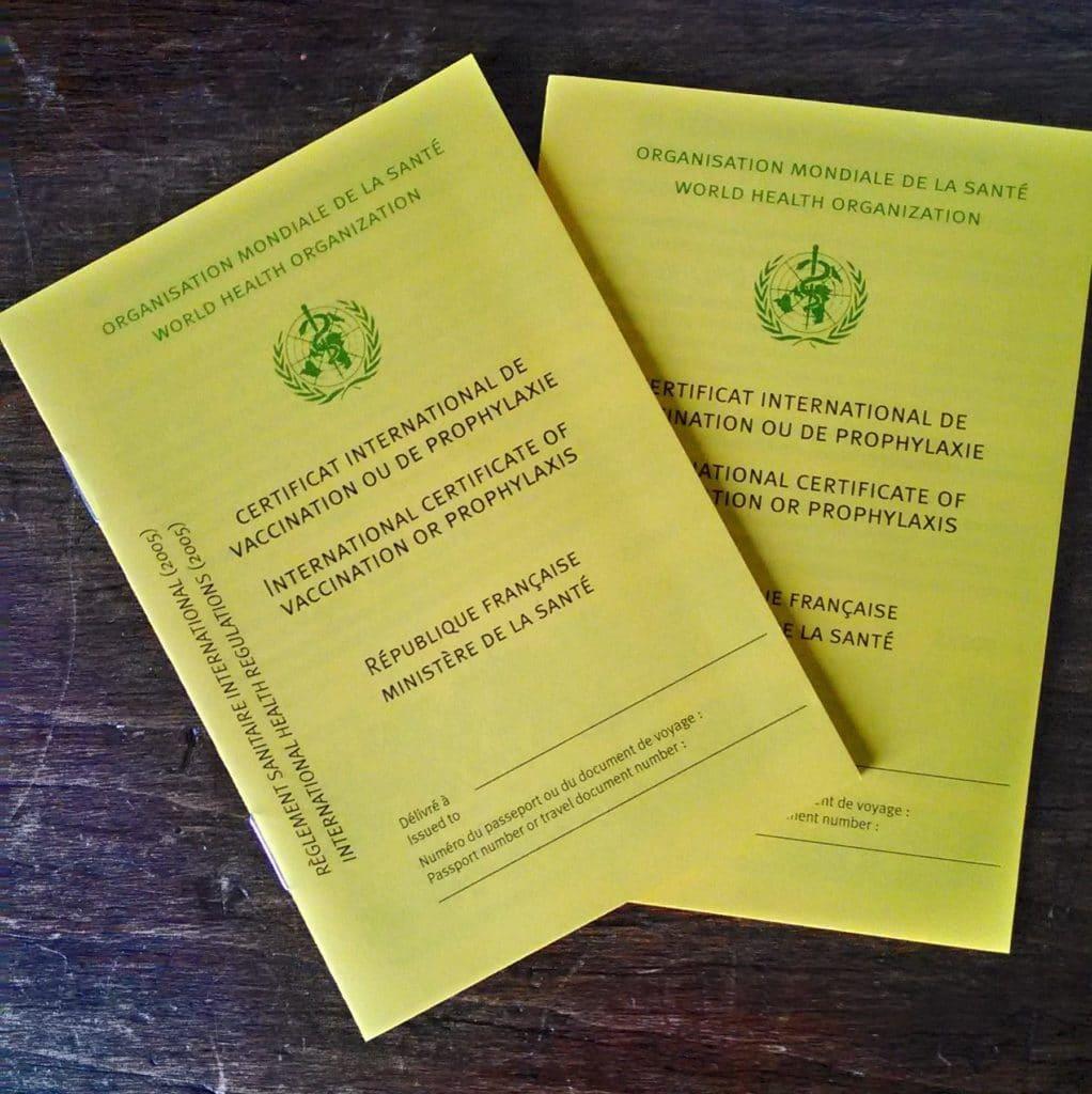 voyage vaccination certificat