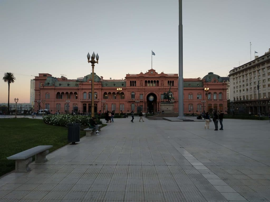 Casa rosada in plaza de mayo Buenos Aires