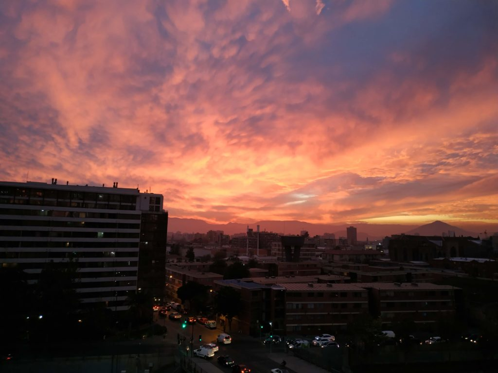 Santiago tramonto