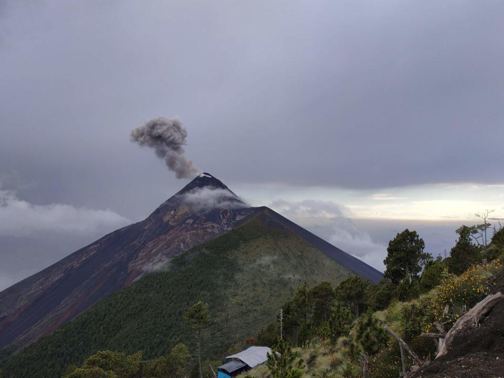 Fuego from Acatenango camp