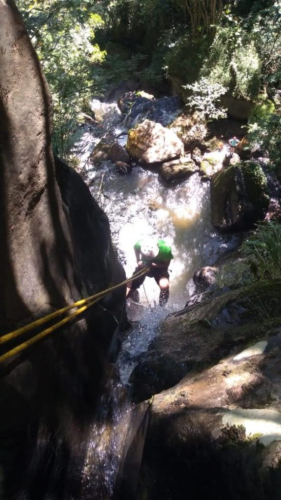 rappeling waterfall