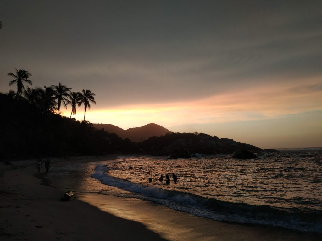 Cabo San Juan coucher soleil